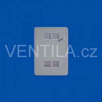 Plastová revizní dvířka First s mřížkou VP SIG 400 x 600 G šedá