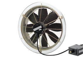 Axiální nástěnný ventilátor DZS 30/6 B E Ex e