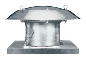 Axiální střešní ventilátor DZD 25/4 B E Ex e